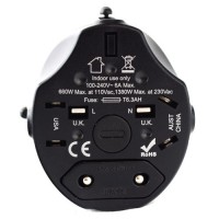World Travel Adapter In Black